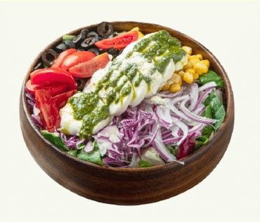 샐러비 메뉴-바질연두부 샐러드