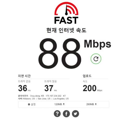 인터넷 속도-fast.com