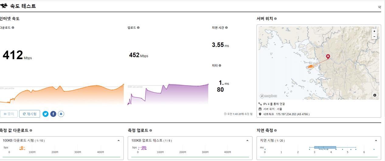 속도 speed.cloudflare.com •