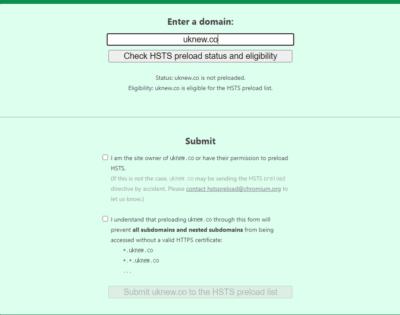 HSTS Preload 등록 •