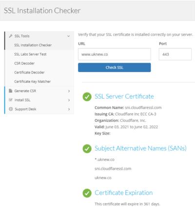 geocerts.com ssl checker