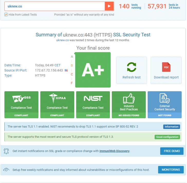 ssl-보안등급테스트